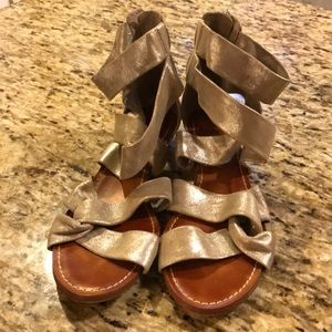 Vince Camuto Silver Gladiator Sandals